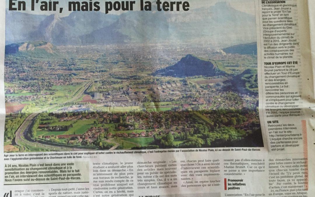 Article du Dauphiné Libéré du 19 Avril 2016