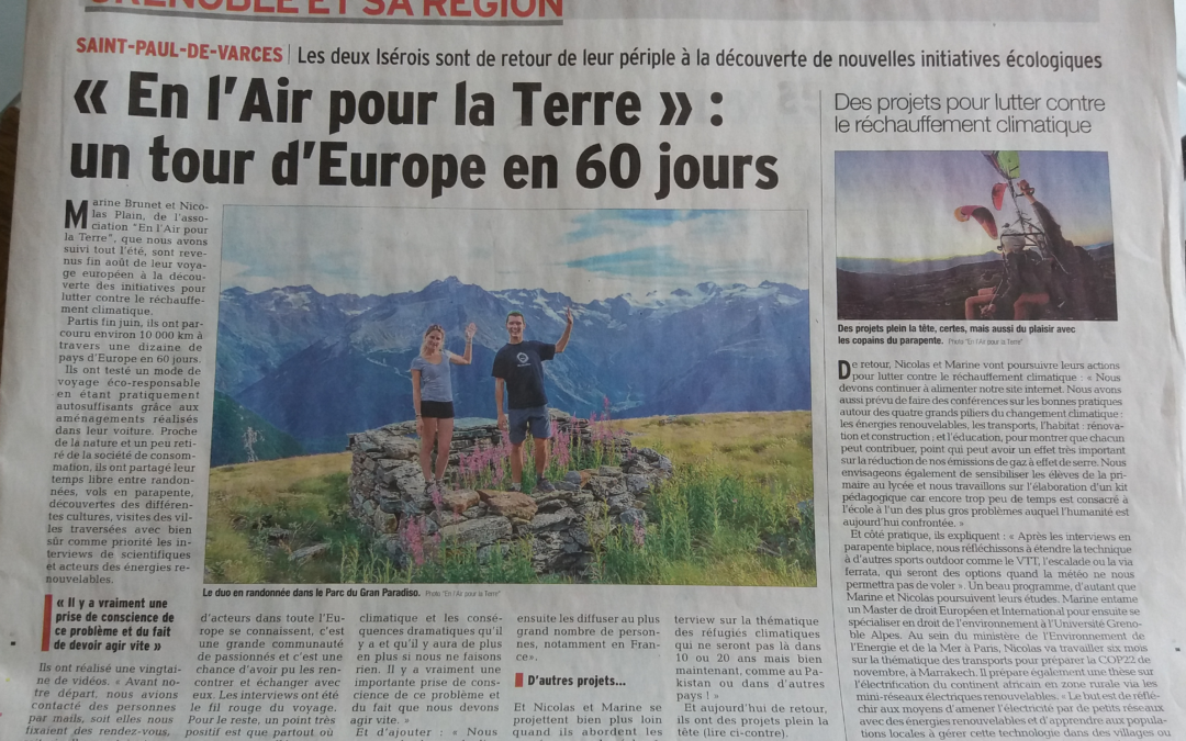En l'Air pour la Terre : le Tour d'Europe en 60 jours !